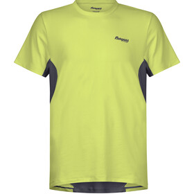 Bergans Fløyen Camiseta Hombre, sprout green/solid dark grey